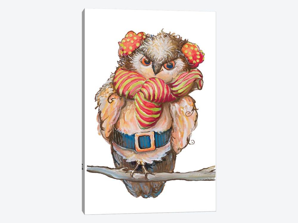 Cozy Winter Owl by Diannart 1-piece Art Print