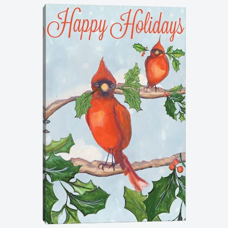 Holiday Birds Canvas Print #DIN32} by Diannart Canvas Wall Art