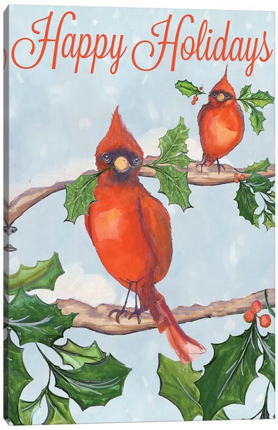 Holiday Birds Canvas Art Print
