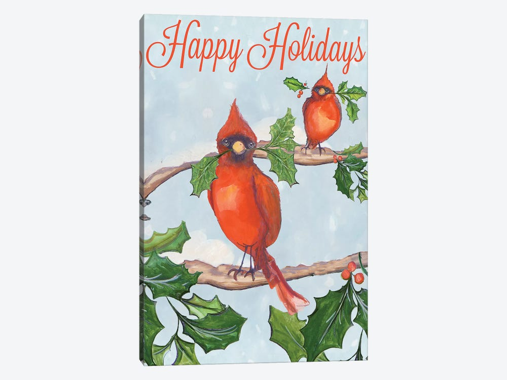 Holiday Birds by Diannart 1-piece Canvas Wall Art
