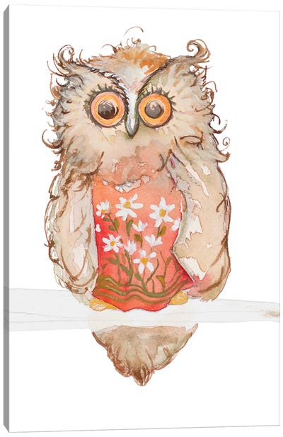 Morning Owl Canvas Art Print