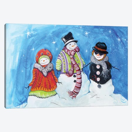 Snow Villagers Canvas Print #DIN36} by Diannart Canvas Print