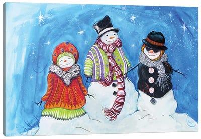 Snow Villagers Canvas Art Print