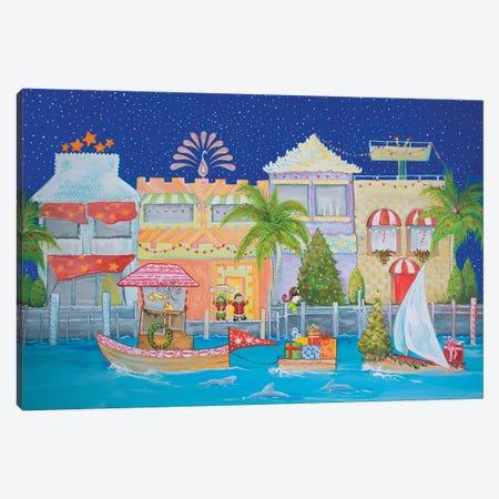 Christmas Village I 3-Piece Canvas #DIN37} by Diannart Canvas Art Print
