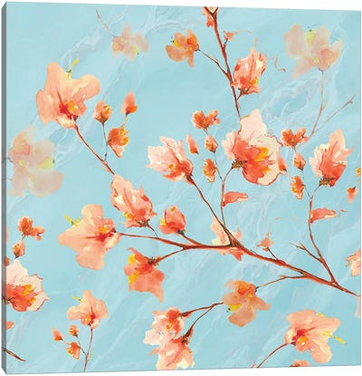 Early Americana Floral I Canvas Art Print