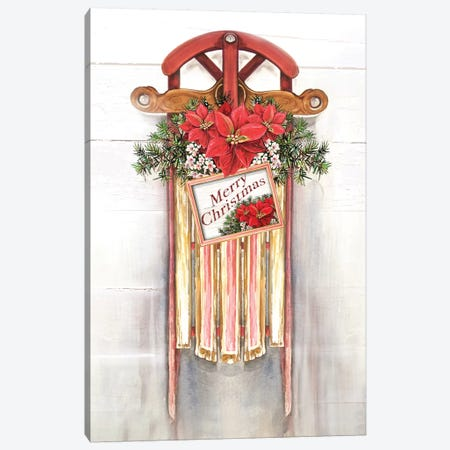 Joyeux Noel Sleigh 3-Piece Canvas #DIN44} by Diannart Canvas Art