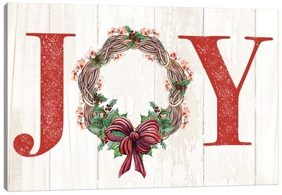 Joyeux Noel Wreath Canvas Art Print