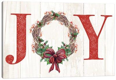 Joyeux Noel Wreath Canvas Art Print