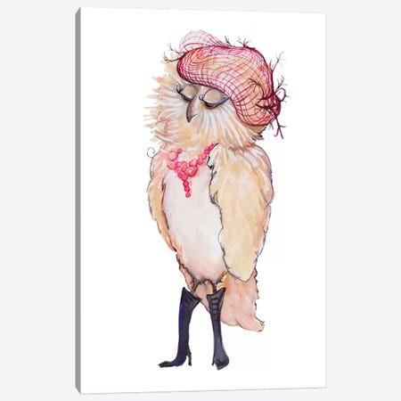 Fashionista Owl Canvas Print #DIN9} by Diannart Canvas Print