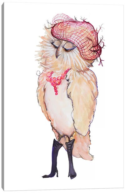 Fashionista Owl Canvas Art Print