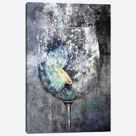 Betta Canvas Print #DIO15} by Claudio Missagia Canvas Art