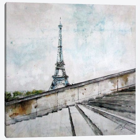 Eiffel Tower Canvas Print #DIO29} by Claudio Missagia Canvas Art