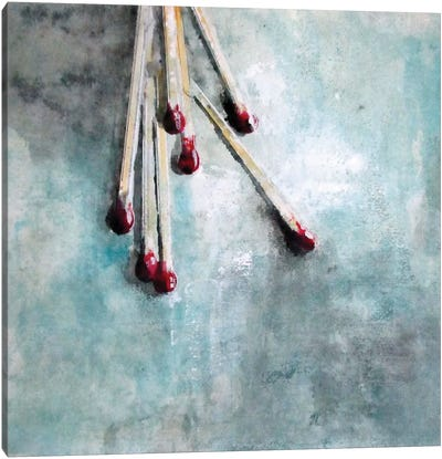 Matchstick Canvas Art Print