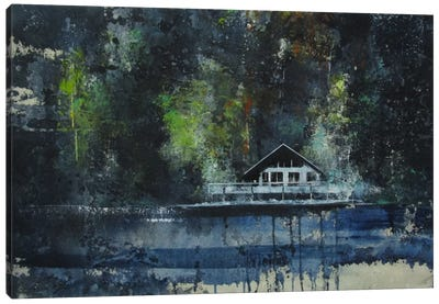 La Casa Sul Lago Canvas Art Print