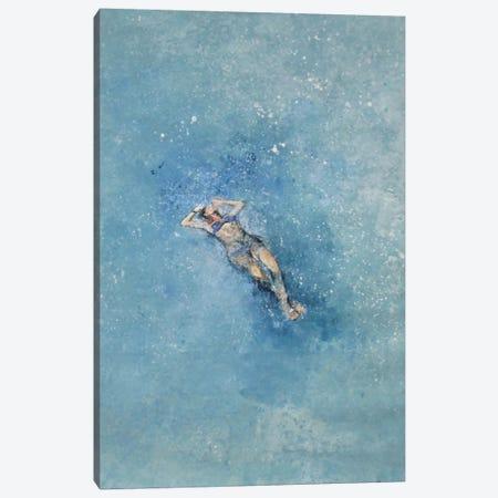 Le Plongeuse Canvas Print #DIO4} by Claudio Missagia Canvas Art Print