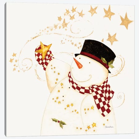Believe In Snowman Canvas Print #DIP1} by Dan Dipaolo Canvas Art