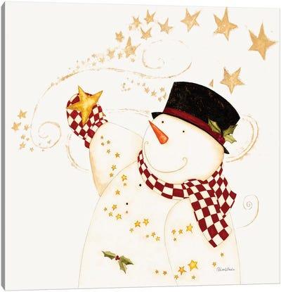 Believe In Snowman Canvas Art Print