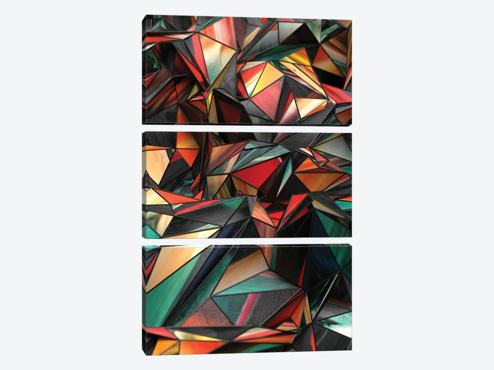Dirty Triangles by Danny Ivan 3-piece Canvas Artwork