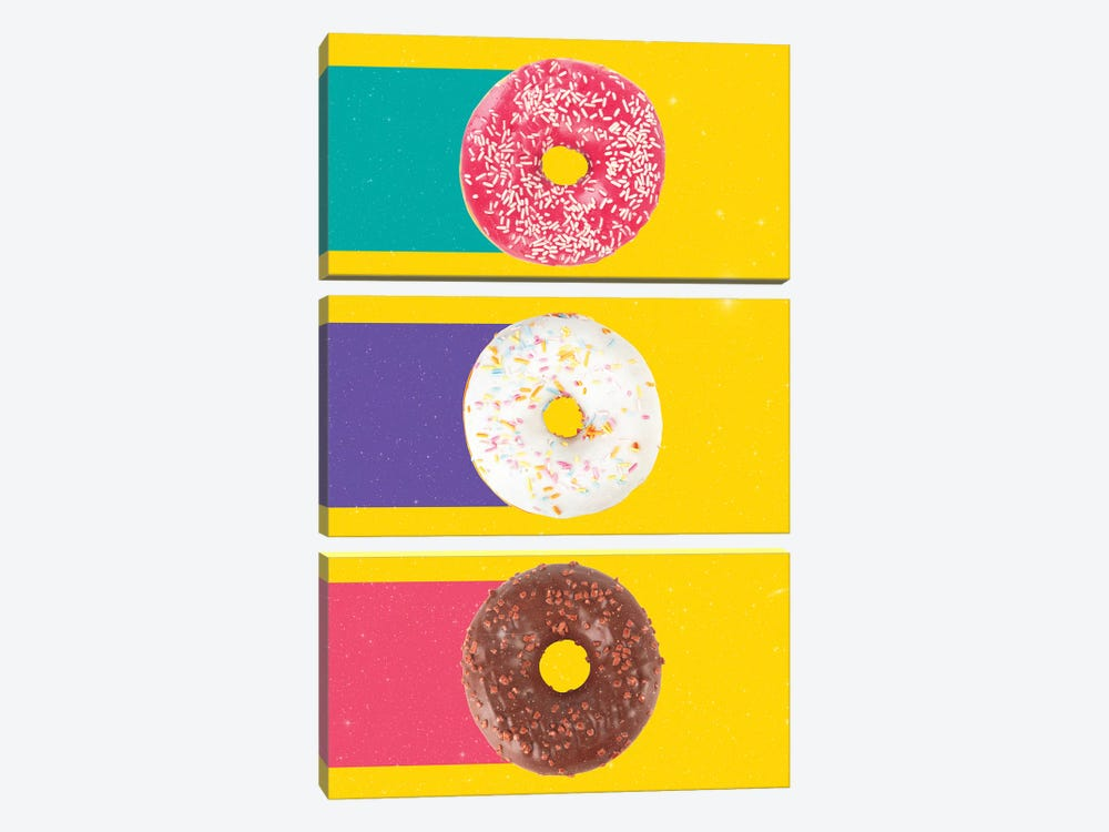 Donuts by Danny Ivan 3-piece Canvas Art Print
