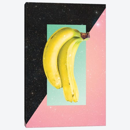 Eat Banana Canvas Print #DIV14} by Danny Ivan Canvas Art Print