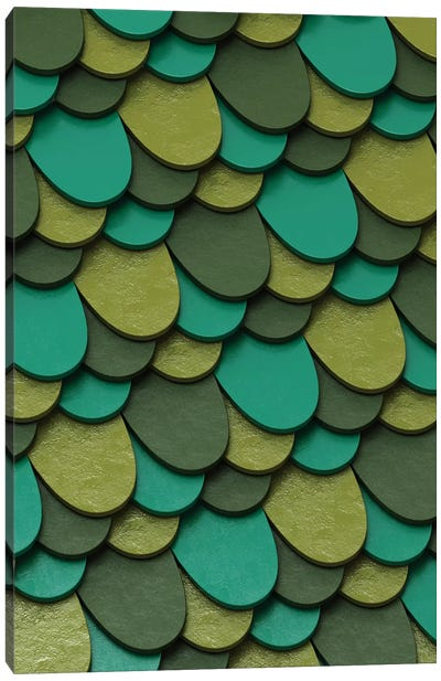 Green Scales Canvas Art Print