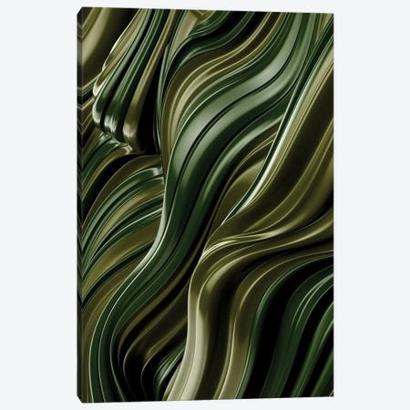 Green Wave, Vertical Canvas Print #DIV20} by Danny Ivan Canvas Art Print