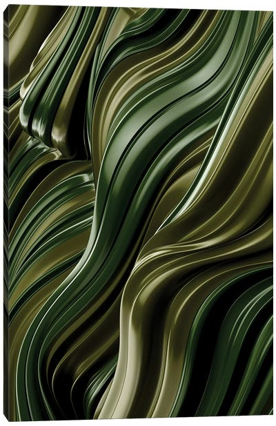 Green Wave, Vertical Canvas Art Print