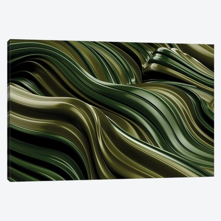 Green Wave, Horizontal Canvas Print #DIV21} by Danny Ivan Canvas Print