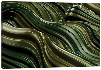 Green Wave, Horizontal Canvas Art Print
