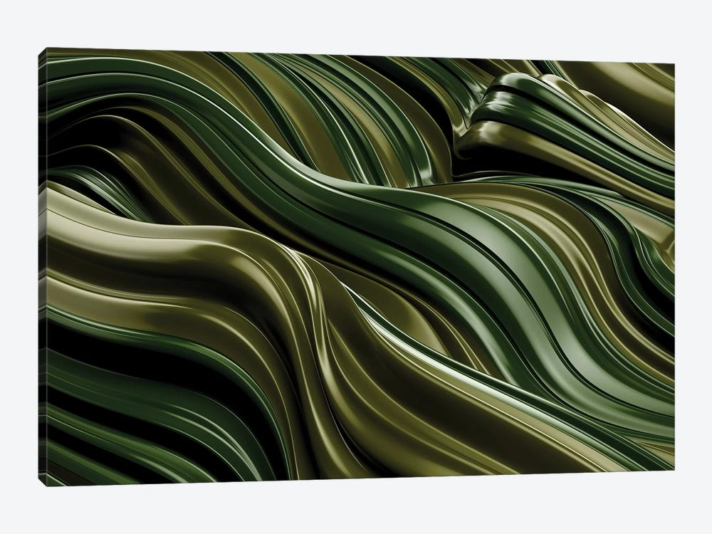 Green Wave, Horizontal by Danny Ivan 1-piece Canvas Art
