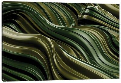 Green Wave, Horizontal Canvas Art Print