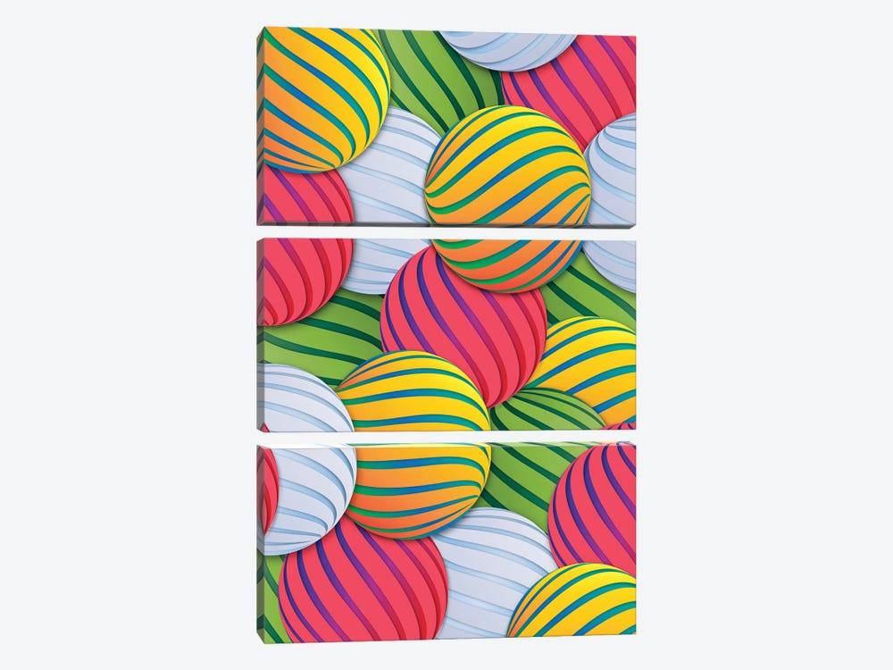 Melons by Danny Ivan 3-piece Canvas Print