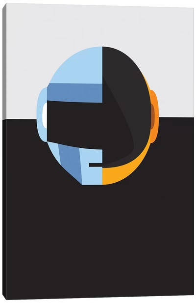 Daftpunk Merge Canvas Art Print