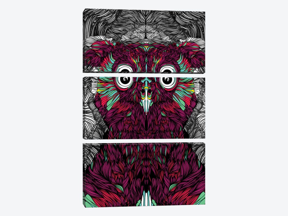 Owl You Need Is Love by Danny Ivan 3-piece Canvas Art Print