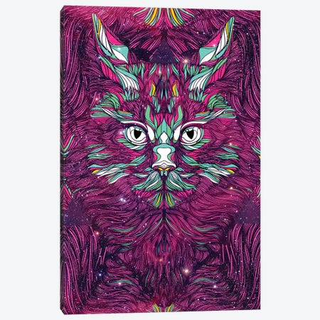 Space Cat Canvas Print #DIV7} by Danny Ivan Art Print