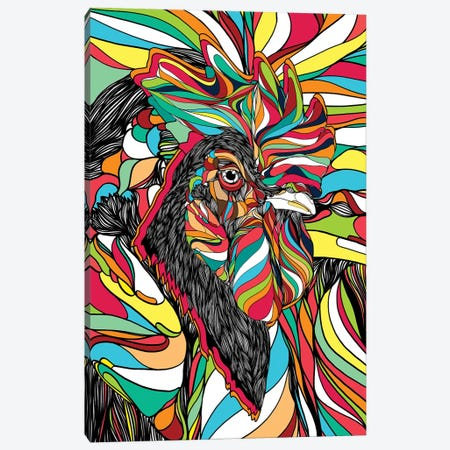 Tropical Cock Canvas Print #DIV8} by Danny Ivan Canvas Art