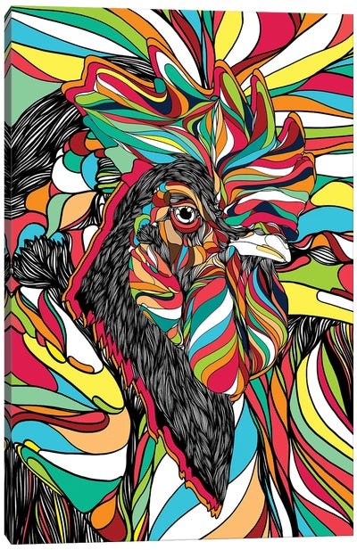 Tropical Cock Canvas Art Print