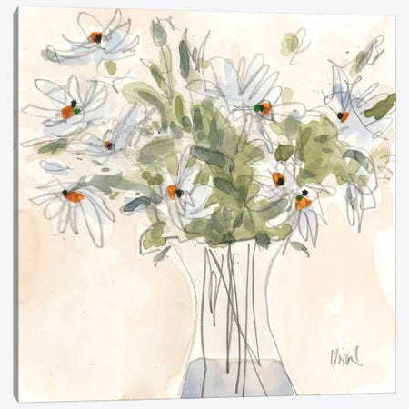 Daisy Just Because II 3-Piece Canvas #DIX101} by Samuel Dixon Art Print