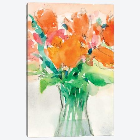 Cheerful Bouquet I 3-Piece Canvas #DIX118} by Samuel Dixon Canvas Artwork