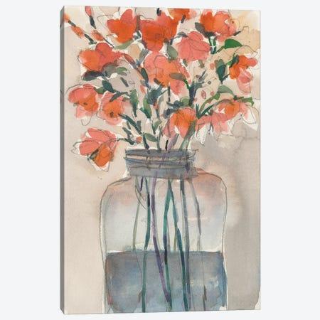 Flowers in a Jar I Canvas Print #DIX120} by Samuel Dixon Canvas Art Print