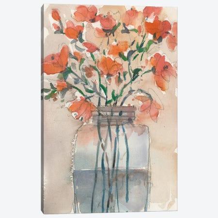 Flowers in a Jar II Canvas Print #DIX121} by Samuel Dixon Canvas Art Print
