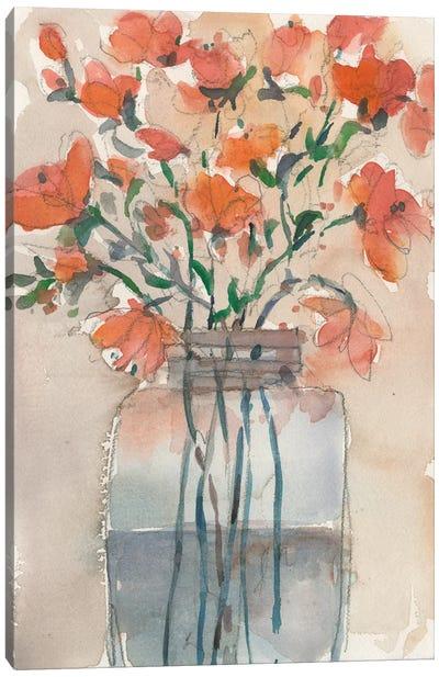 Flowers in a Jar II Canvas Art Print
