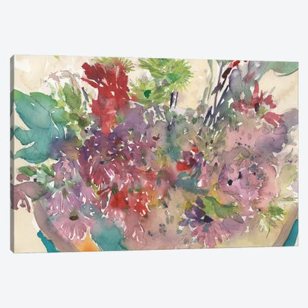 Assorted Summer Planter II Canvas Print #DIX129} by Samuel Dixon Art Print