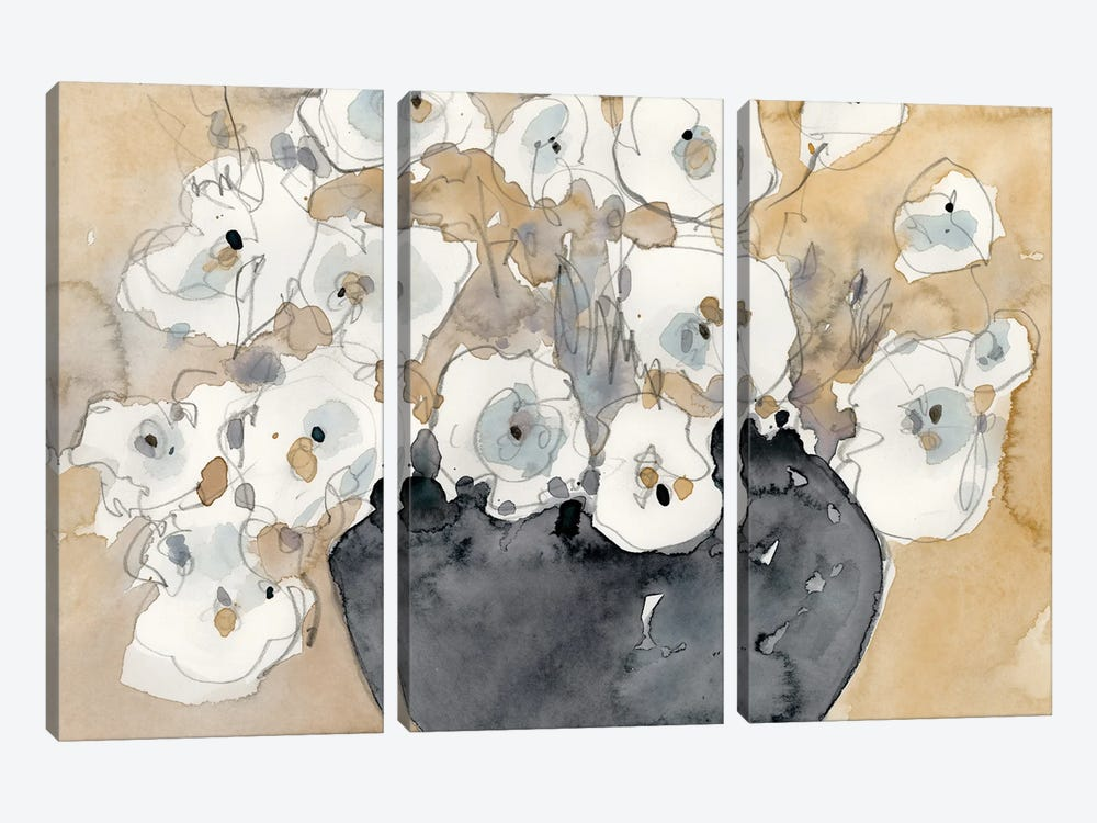 Another White Blossom II by Samuel Dixon 3-piece Canvas Art