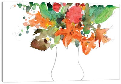 Expressive Bouquet I Canvas Art Print