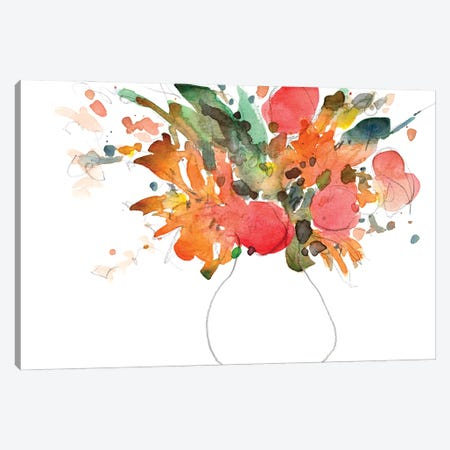 Expressive Bouquet II Canvas Print #DIX154} by Samuel Dixon Canvas Print