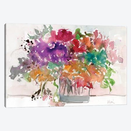 Mix Flowers I Canvas Print #DIX155} by Samuel Dixon Art Print