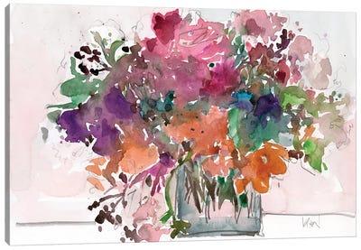 Mix Flowers II Canvas Art Print