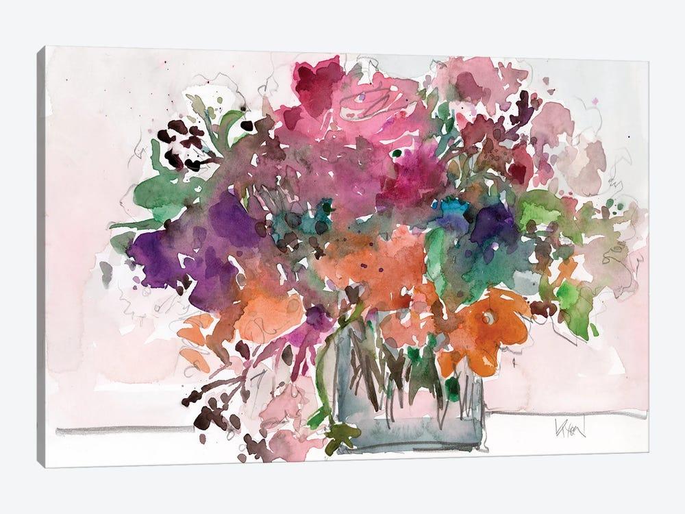 Mix Flowers II by Samuel Dixon 1-piece Canvas Print