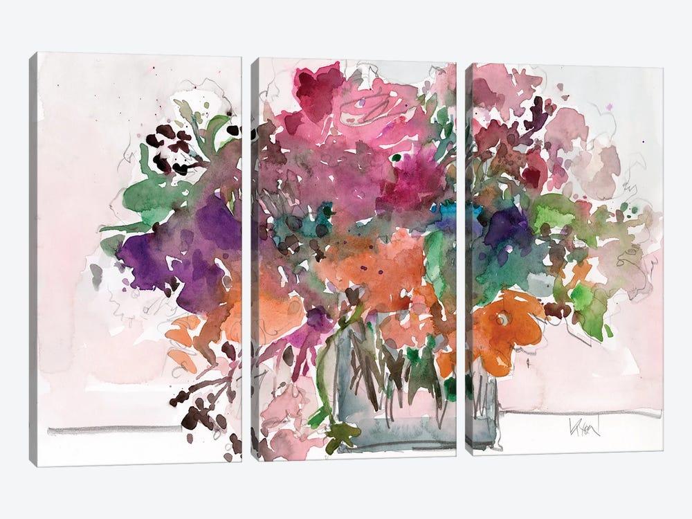 Mix Flowers II by Samuel Dixon 3-piece Art Print